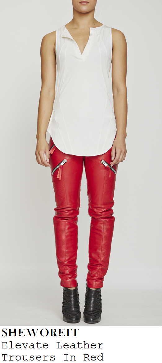 fleur-east-bright-red-zip-detail-leather-trousers-x-factor