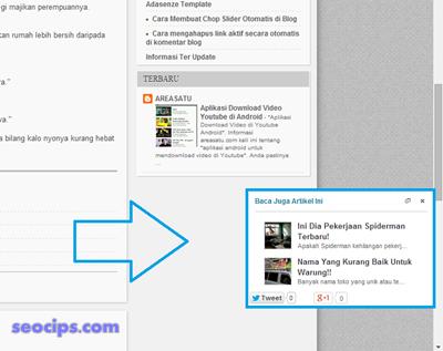 Cara Membuat Slide Rekomendasi Artikel Terkait