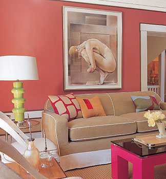 California livin home coral the unexpected sizzle for Coral walls living room