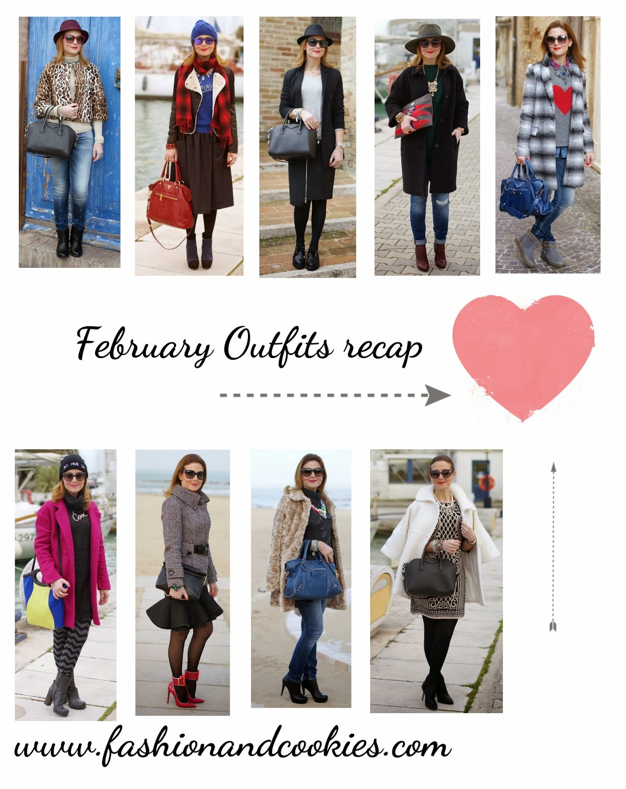 February Outfits recap on Fashion and Cookies, Hello March