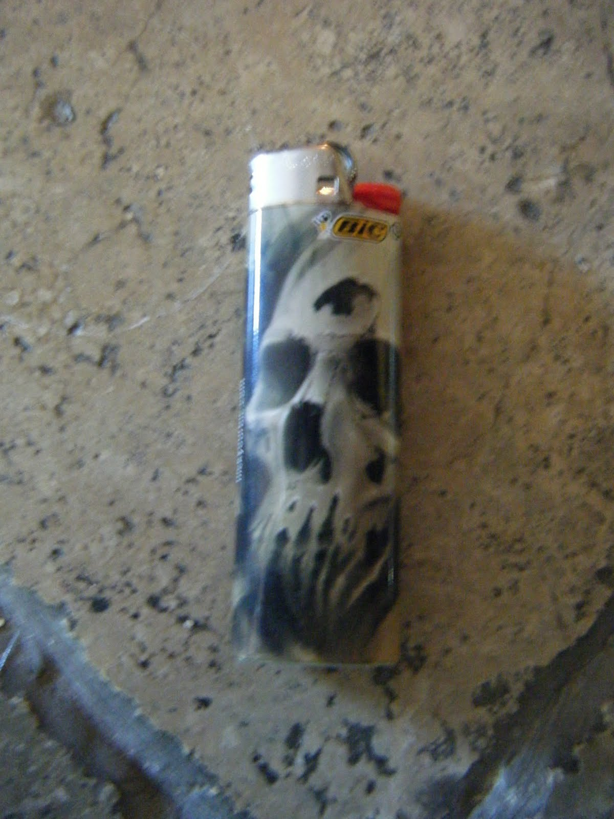 channel 13 bic skull lighter. Black Bedroom Furniture Sets. Home Design Ideas