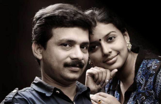 Sithara Krishnakumar with Husband Sajish