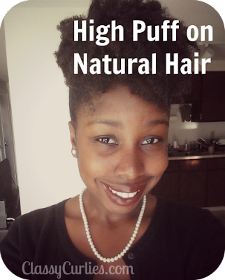 high puff on natural hair