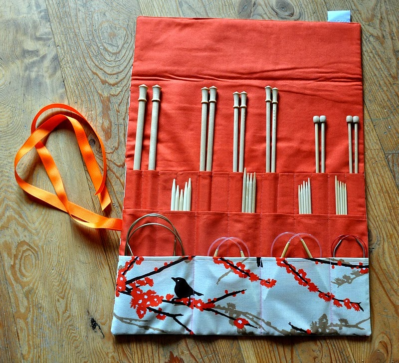 Knitting Needle Roll Pattern : Michele Bilyeu Creates *With Heart and Hands*: Free Sewing Accessories Patter...