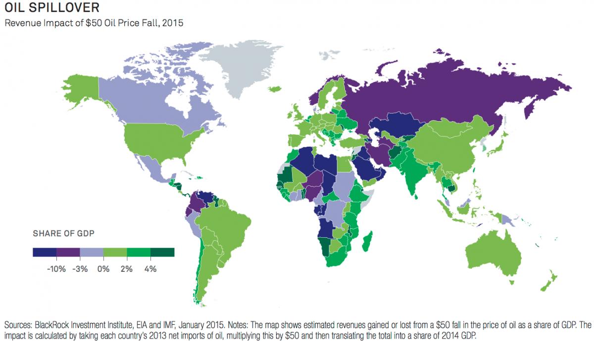 原油安 世界地図 影響