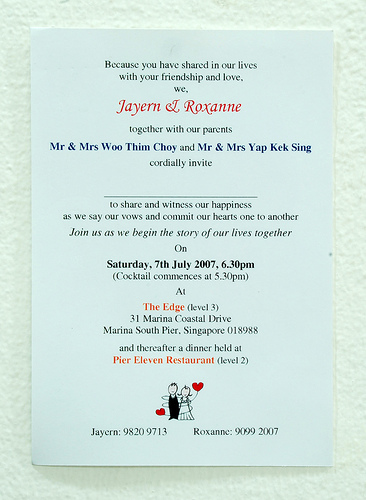 wedding invitation card wording