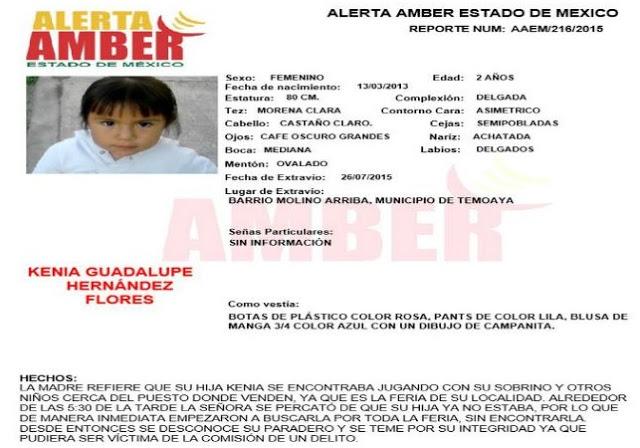 Alerta Amber Edomex