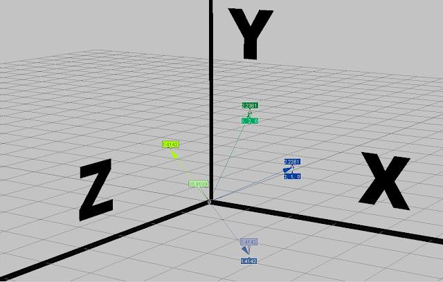 3D Subtracted Vectors in Softimage