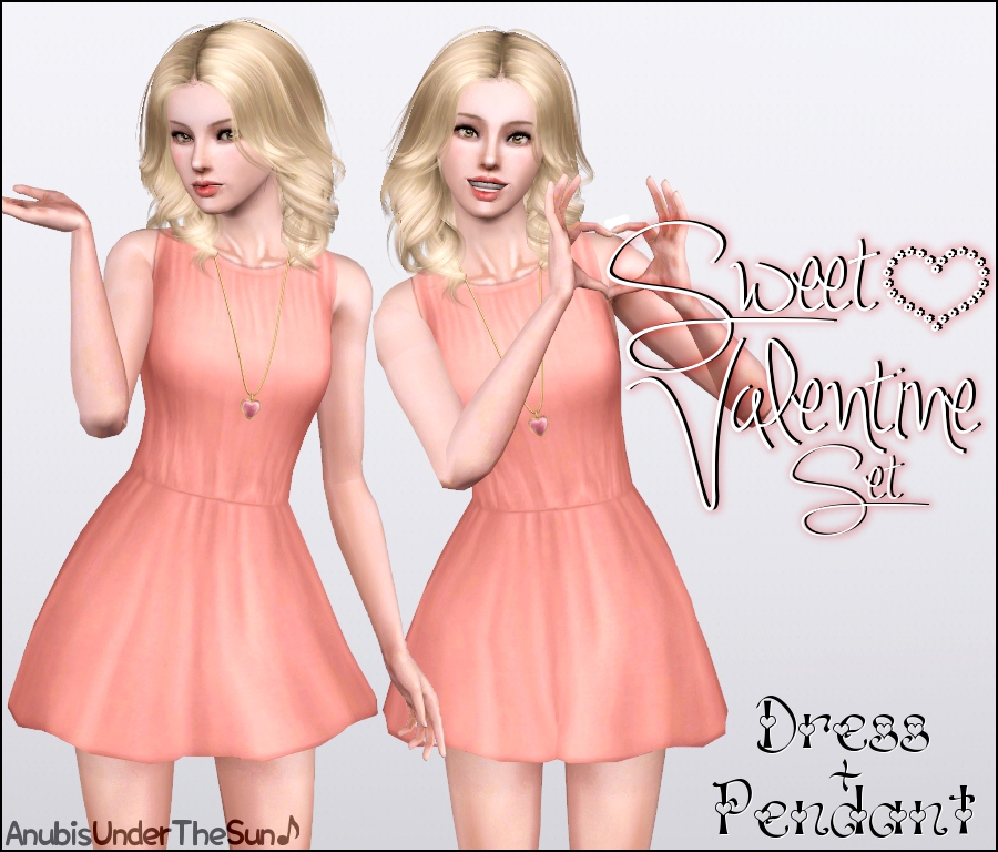 SweetValentine 1 Both package and sims3pack formats available. Happy Valentine's Day! ♥