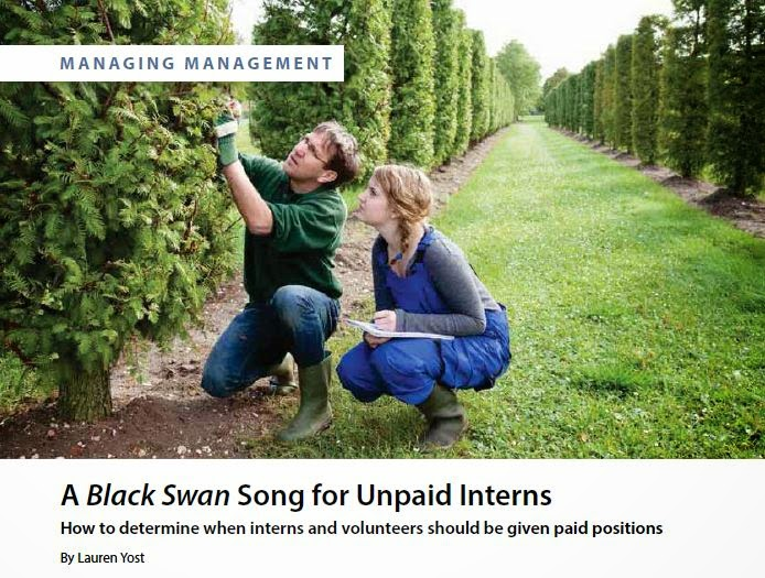 A Black Swan Song for Unpaid Interns by Lauren Yost