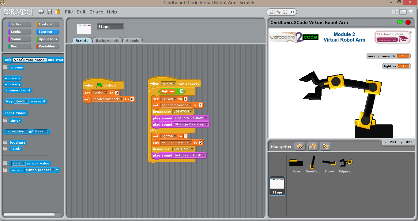 Robots and Physical Computing: Scratch Robot Arm