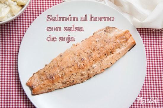 Receta de Salmón con salsa de soja y jengibre