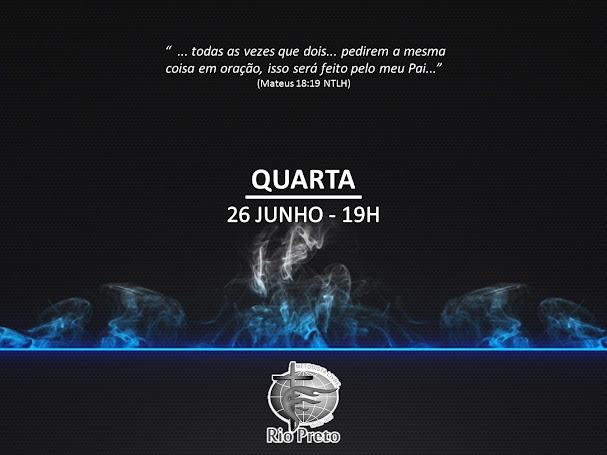 Culto Quarta - 26/06 19h