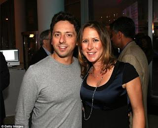 sergey brin dan istrinya Anne Wojcicki