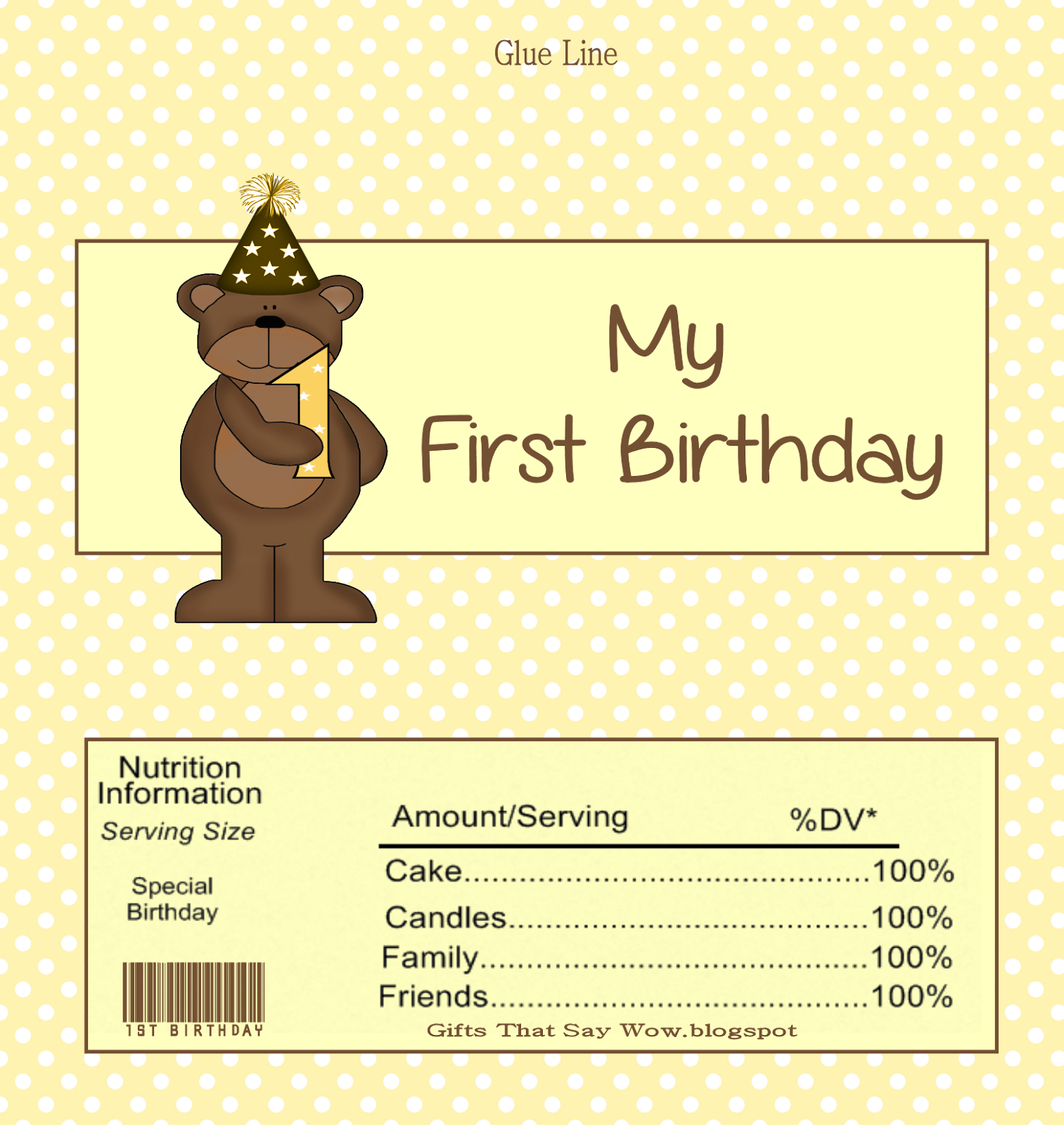picture regarding Free Printable Birthday Candy Bar Wrappers named Presents THAT SAY WOW - Exciting Crafts and Present Recommendations: Absolutely free Sweet