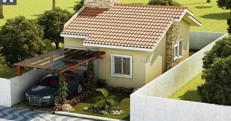 Projeto de casas pequenas com 2 quartos for Antejardines de casas pequenas