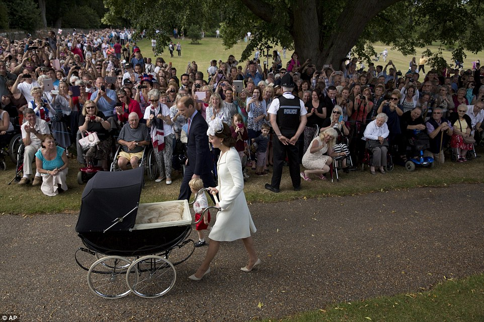It is only the second time Princess Charlotte has been seen in public