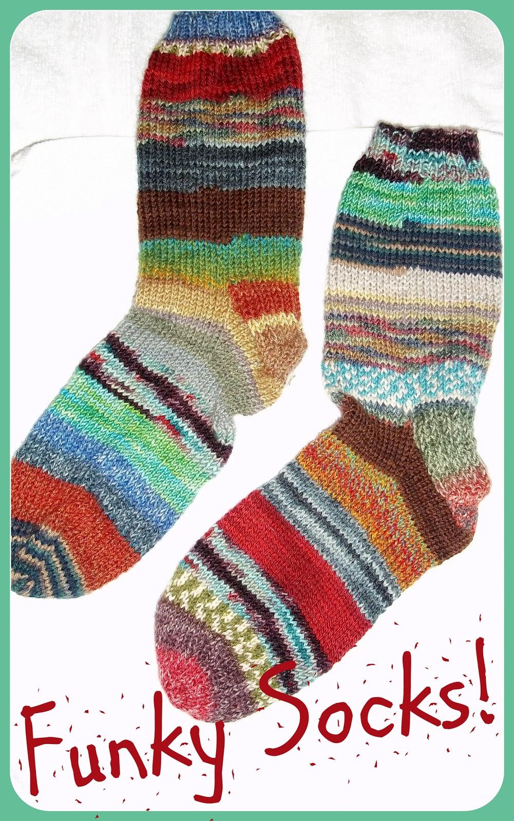 Knitting Patterns For Funky Socks : Yarn Over: Funky Socks