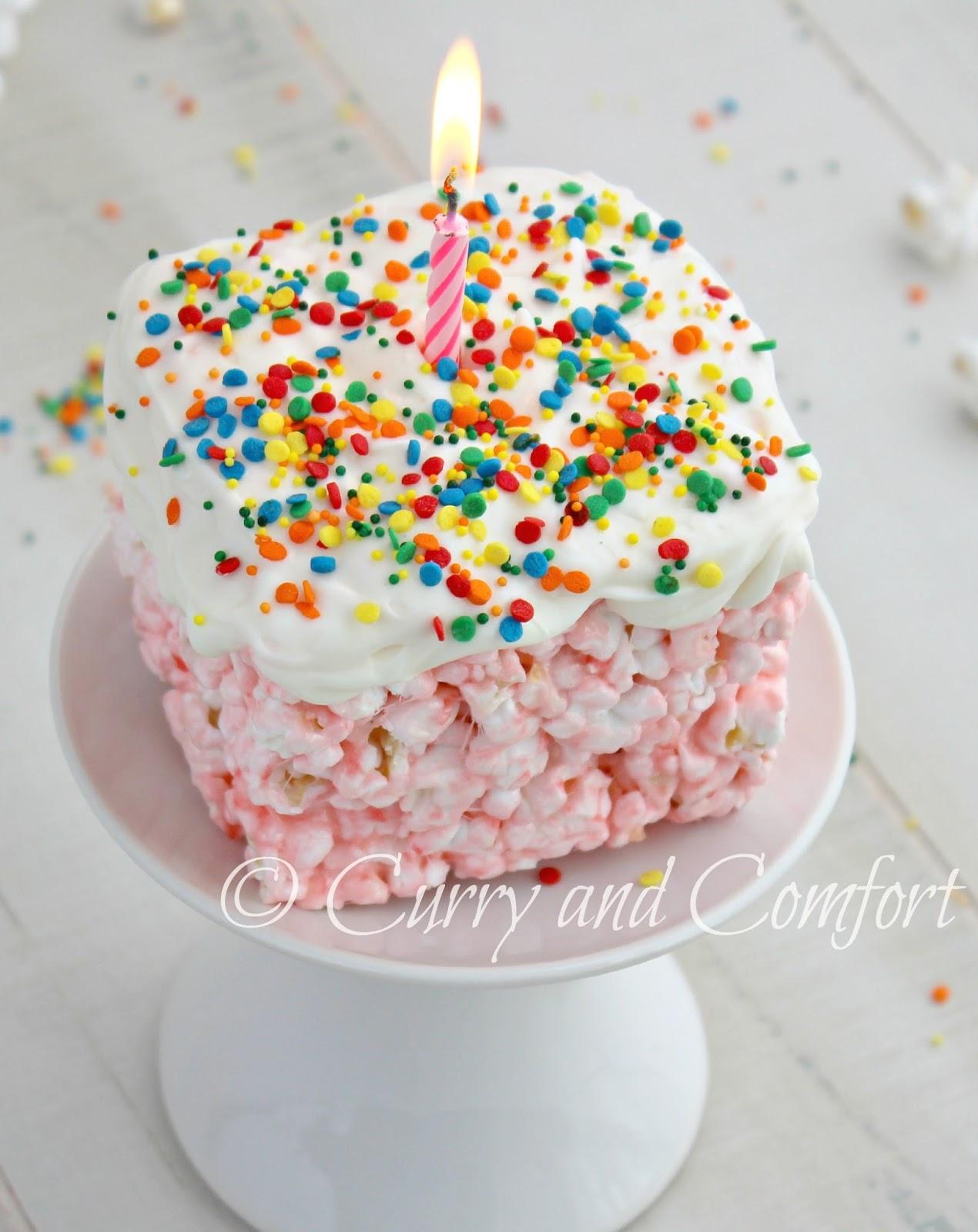 Birthday Cake Popcorn Without Marshmallow