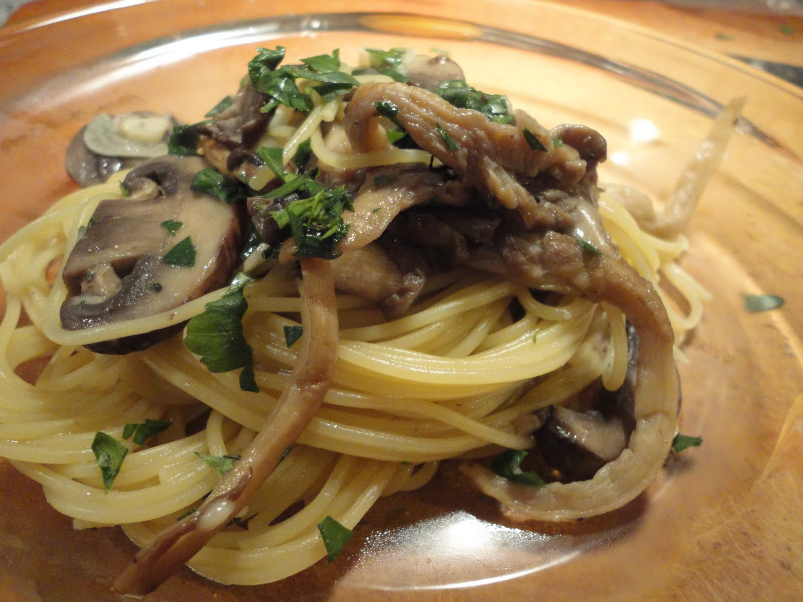 Sage Sprout Sauteed Wild Mushrooms With Angel Hair Pasta