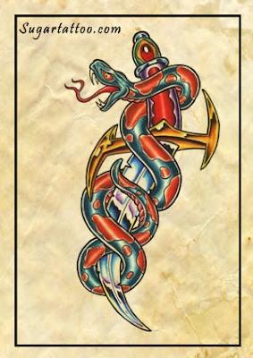 snake tattoo φιδι τατουαζ