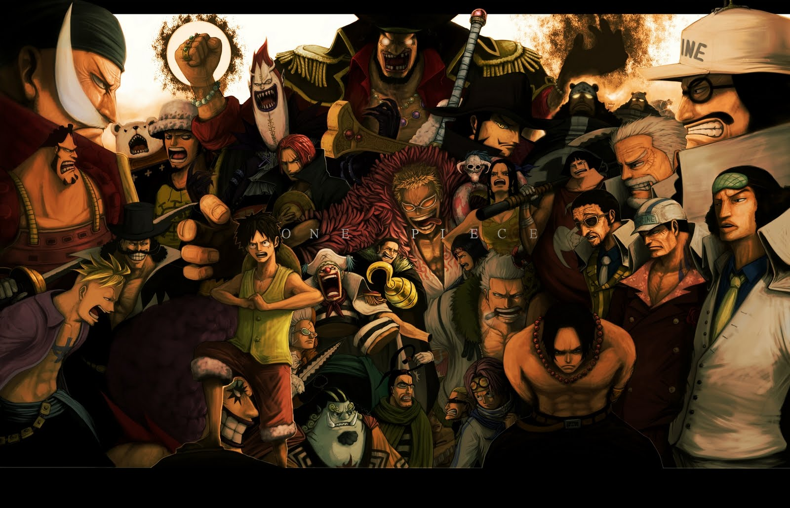 One Piece HD & Widescreen Wallpaper 0.909514400092285