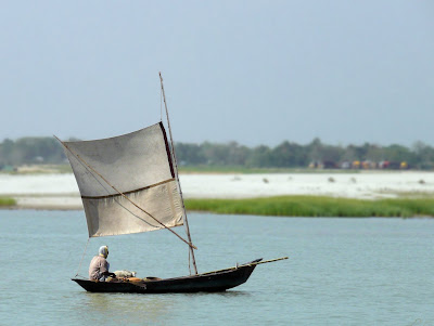A boat in Padma River, Bangladesh