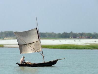 A boat in Padma River, Bangladesh
