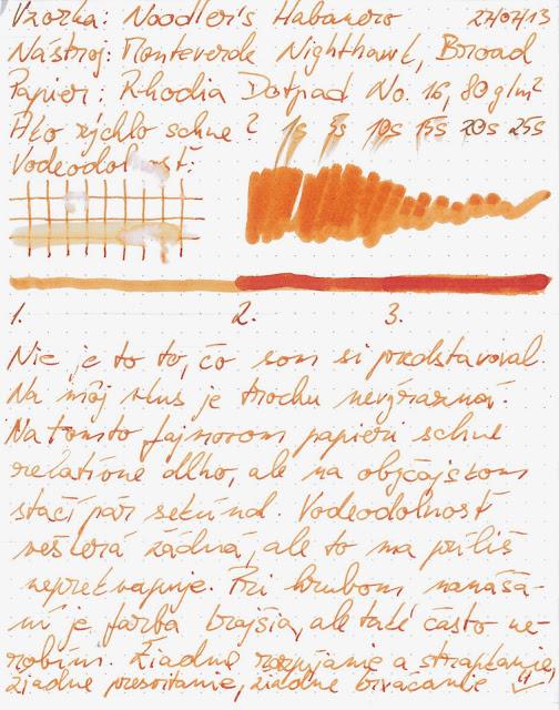Atrament: Noodler's Habanero - scan