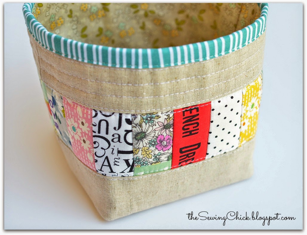 zakka patchwork and linen thread catcher the sewing chick