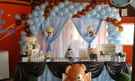 Chá de Bebê dos Ursos Azul com marron