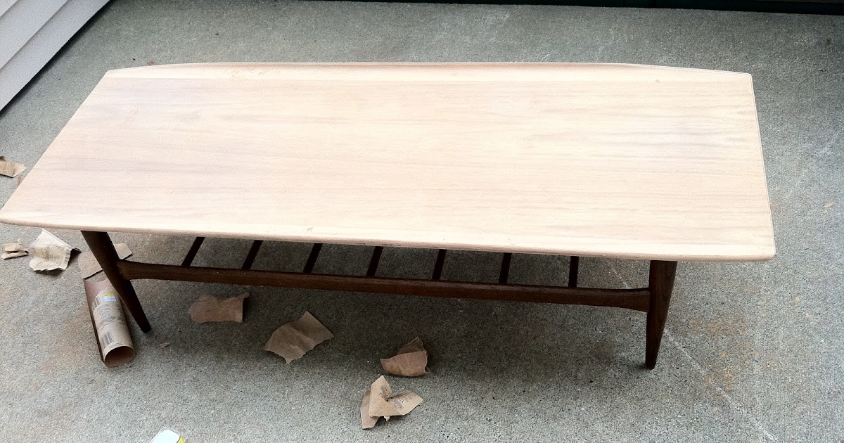 Mid Century Sensibilities Refinishing A Mid Century Coffee Table