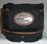 Massachusetts based Farrier displaying the rear view of the Easyboot Glove Back Country