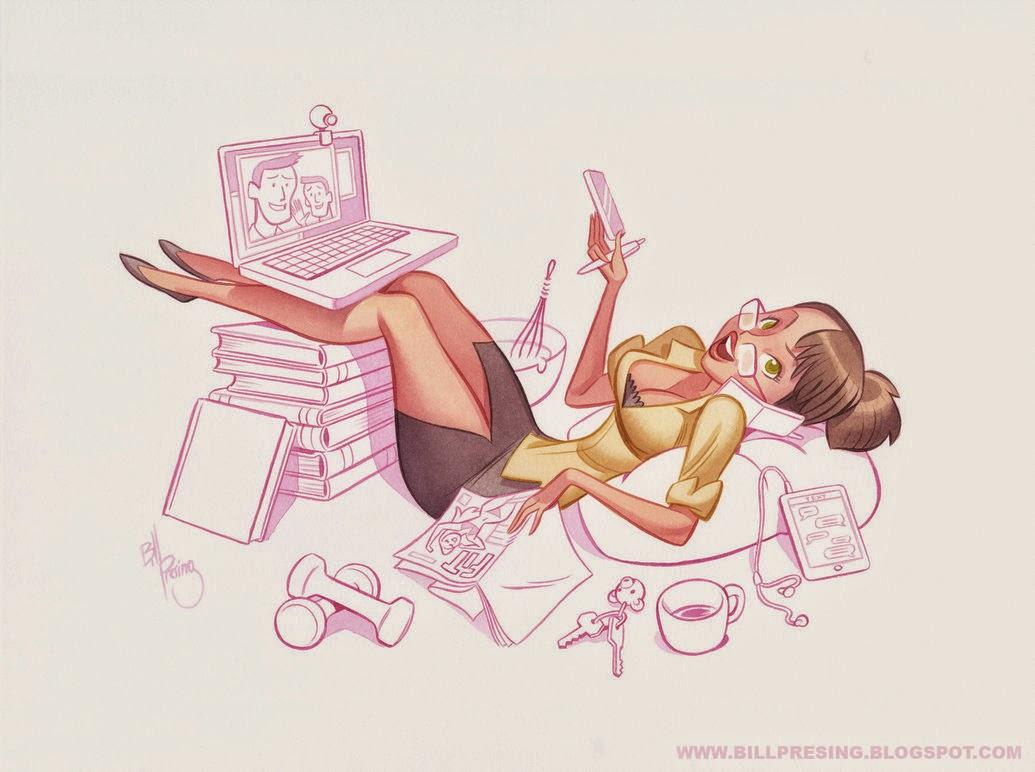ilustraciones de chicas sexys por Bill Presing
