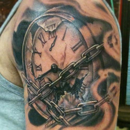 grandfather clock tattoo designs