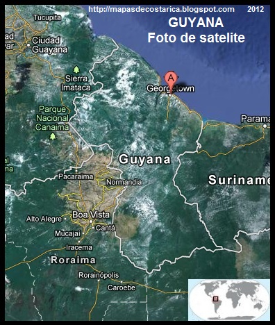 GUYANA, Vista Satelital