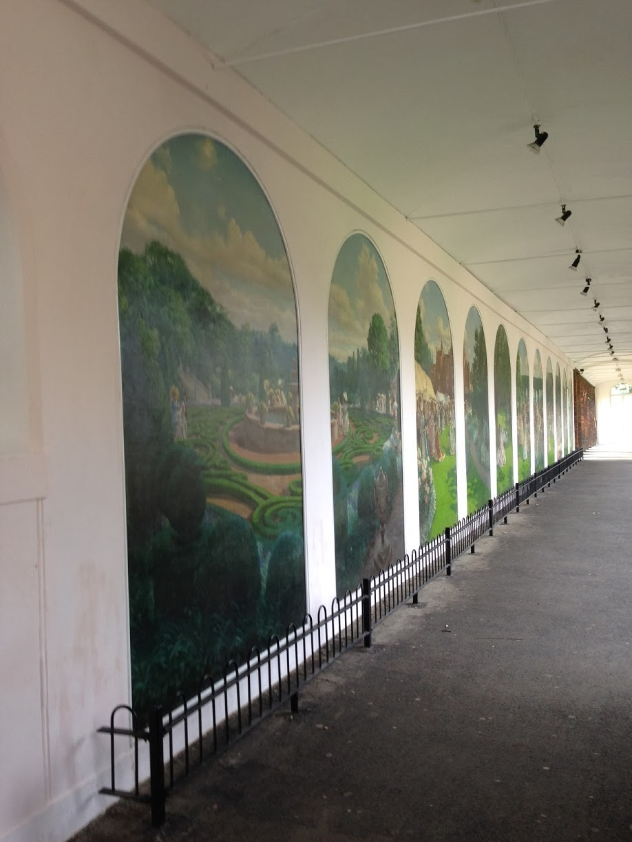 Murals in Holland Park, London W14