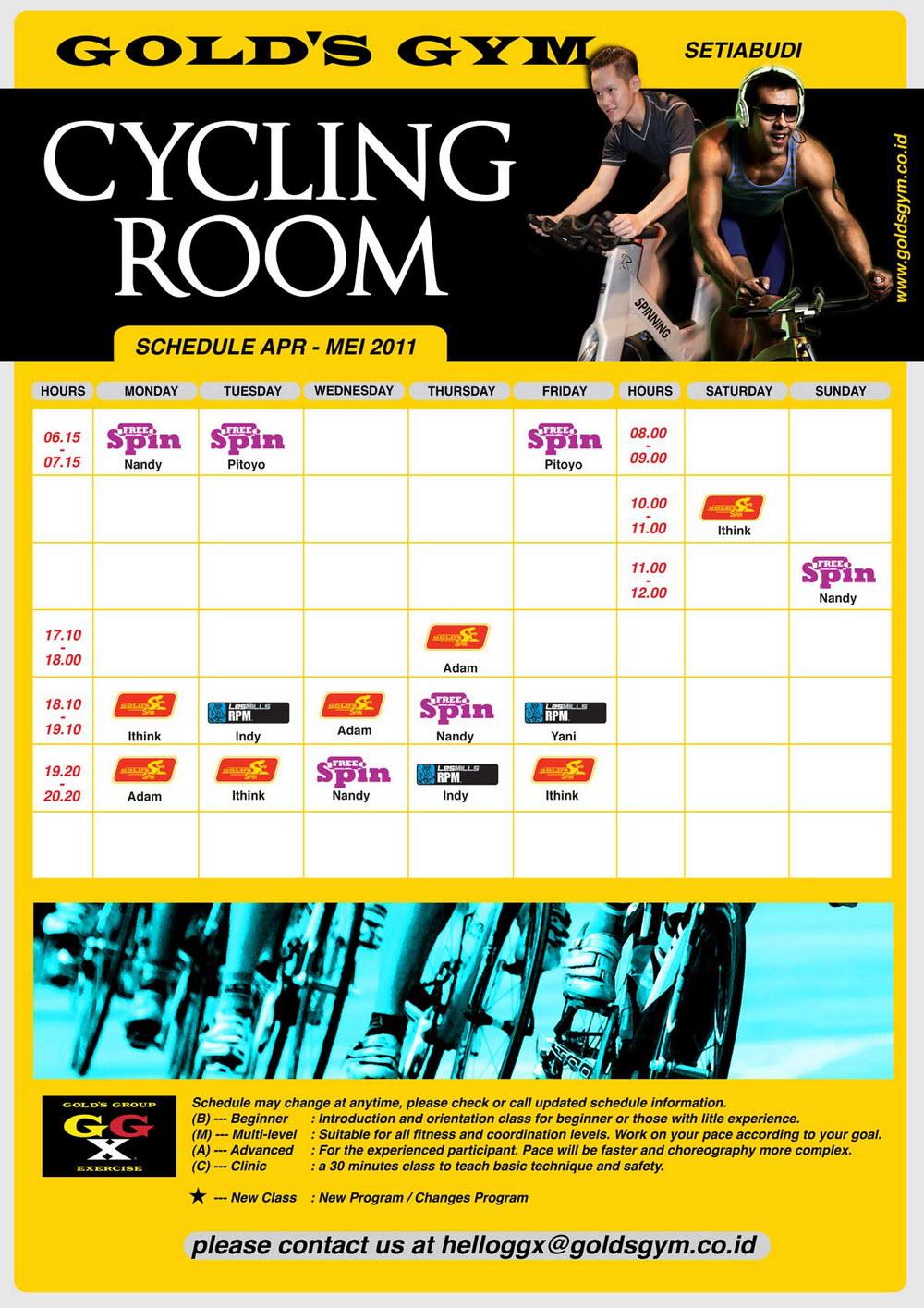 Golds Gym @ Setiabudi One: New Update Schedules Class & Studio