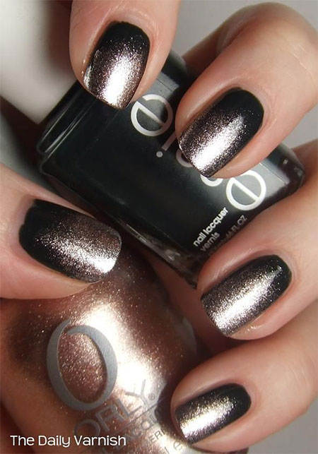 Black Acrylic Nail Designs