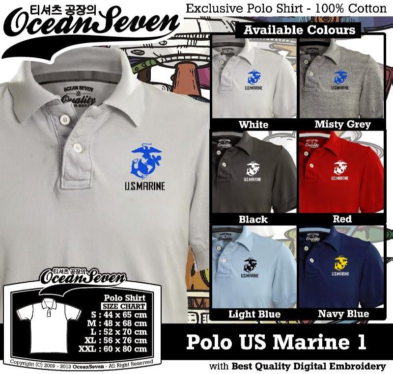 Kaos Polo US Marine 1