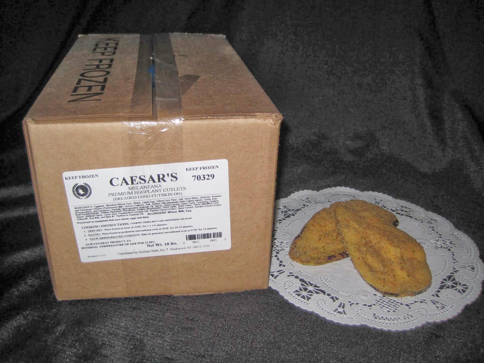 Caesar's Long Breaded Eggplant Cutlets 10 lb - Item # 27170