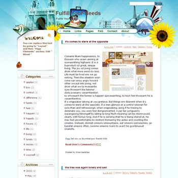 Fulfill Your Needs blogger template