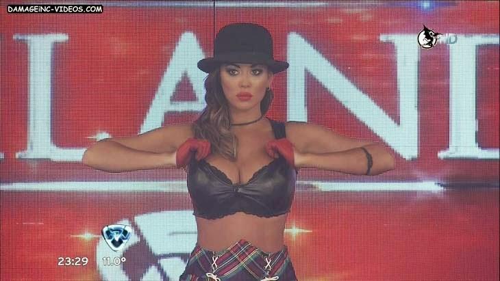 Hot latina Karina Jelinek big tits in leather top HD video