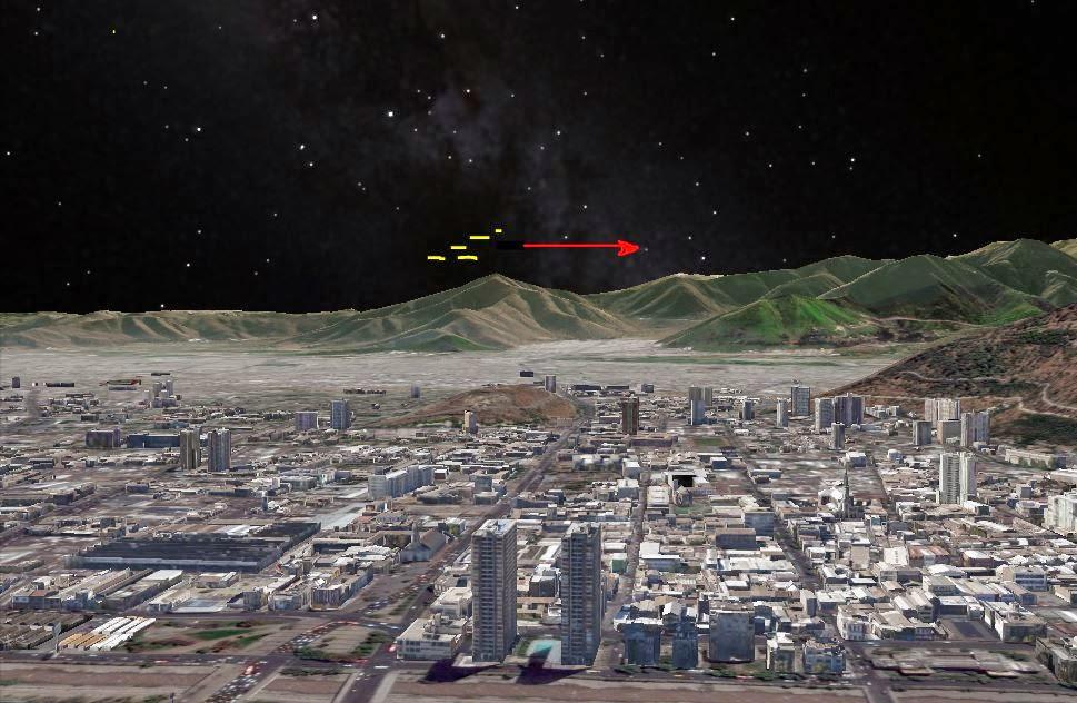UFO sky on santiago de chile