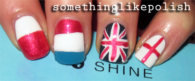 poland luxembourg unated kingdom england flag nail art