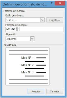 Definir lista numérica personalizada en Word