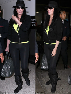 Two more shots of Cher at LA's famous airport
