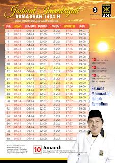 Template Jadwal Imsakiyah Ramadhan 1434 H / 2014 M
