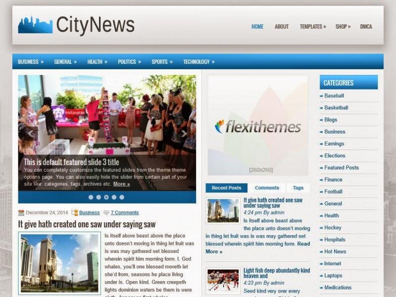 CityNews - Free Wordpress Theme