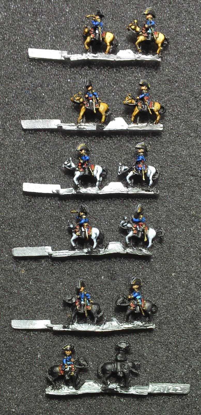 Peindre des figurines de 6mm Generaux+finis